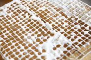 網をキレイに洗う