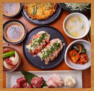 【うしおの宴コース3,500円】カルビ、ロース、タンスジ、鶏、豚、ホルモン、壺漬けで宴会
